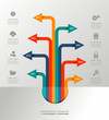Infographic template graphic elements illustration.