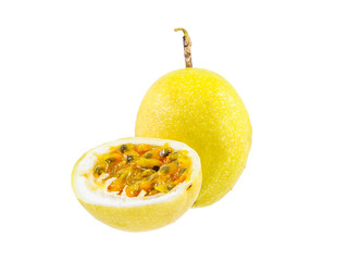 Passion fruit whole fruit and opened