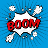 Fototapety boom comics icon