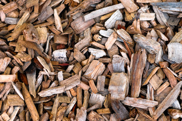 Wood chips background and texture