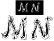 Capital letters M and N
