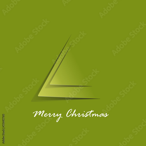 Vector minimalist Christmas tree