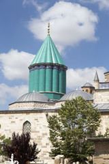 Tomb of Mevlana, the founder of Mevlevi sufi dervish order, with