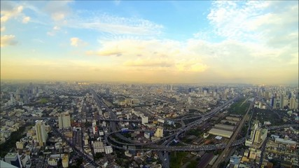 Bangkok evening time lapse loop [HD]