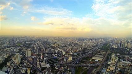 Bangkok evening time lapse loop [HD]