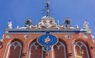 Close-up on the Facade of the House of the Blackheads in Riga
