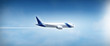 Leinwanddruck Bild - Airplane flight widescreen
