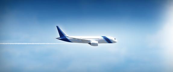 Airplane flight widescreen