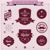 Set of Vintage styled design Hipster icons. Vector background