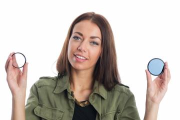 Frau mit  verschiedenen Fotofiltern