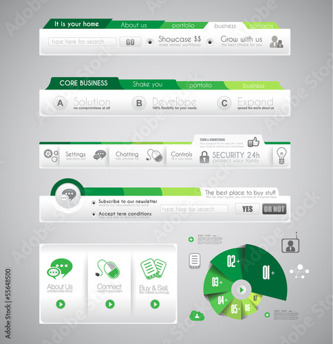 Infographic design template with design elements