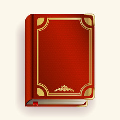 Vector red leather book