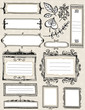 Set of special hand draw labels and banners, vector