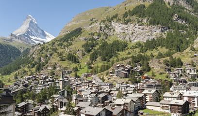 Zermatt, Bergdorf am Fusse des Matterhorns, Schweiz