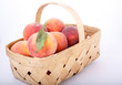 Green Leaf on Peach in Basket