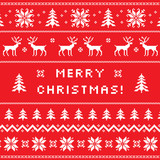 Merry Christmas greeting card, sweater design