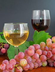 glasses and grape