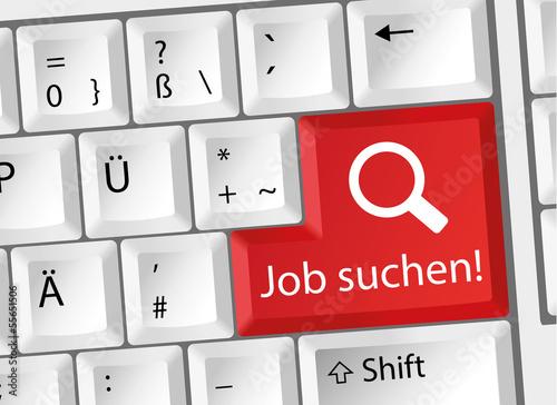 Job suchen - Arbeit - Karriere - Tastatur deutsch