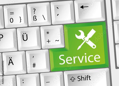 Service - Support - Beratung - Tastatur deutsch
