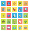 Flat icon set : universal icons