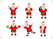 abstract multiple santa icon set