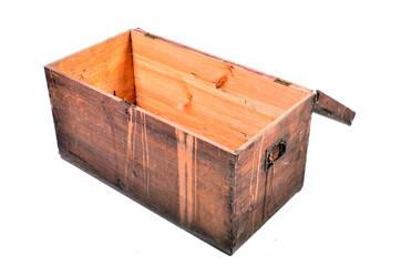 alte Holztruhe offen