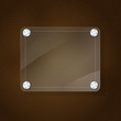 glass frame on leather texture