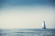 Sailing ship yachts with white sails - 55653516