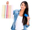 Female shopper with a credit card