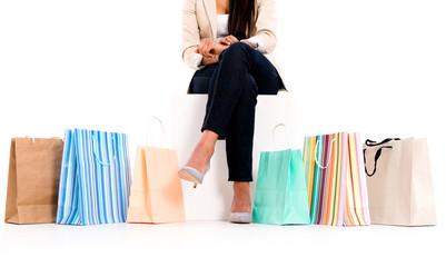 Unrecognizable shopping woman