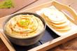 Chickpea hummus with pita bread
