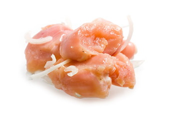Fresh raw chicken fillets