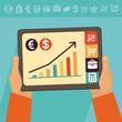 Vector online banking concept