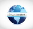 e commerce globe illustration design