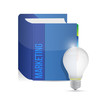 marketing book and idea lightbulb illustration