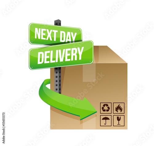 next day delivery illustration design