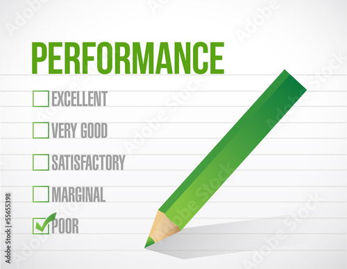 poor performance review illustration design
