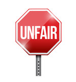 unfair red stop sign illustration design