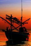 Silhouette  Fishing Boat