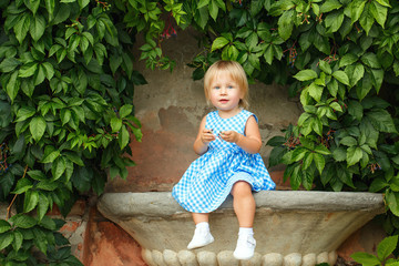 Little girl in a dress