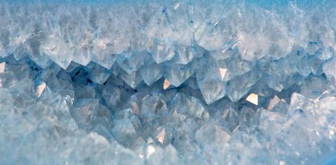 quartz crystals in blue agate