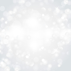 Lights on silver background - Vector illustration
