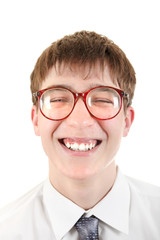 Happy and Funny Teenager portrait