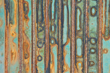 dirty and Rusted galvanized iron plate