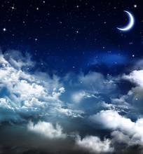 Piękne tło, nocne niebo
