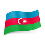 State flag of Azerbaijan.