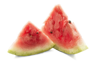 Two pieces of melon