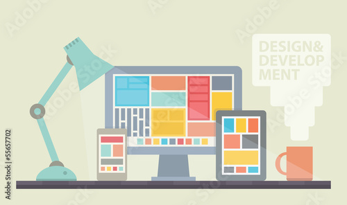 Web design development illustration - 55657702