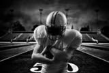 American Football Runningback <in action on stadium