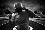 American Football Runningback  stadium